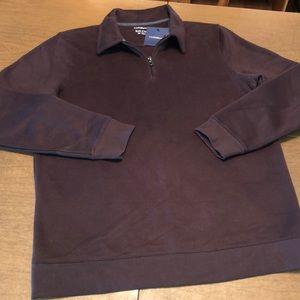 CROFT & BARROW Brown Fleece Pullover Sweatshirt